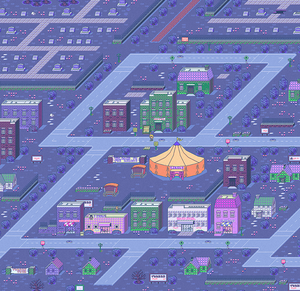 Earthbound Threed Town Map