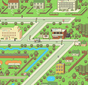 Earthbound Twoson Town Map