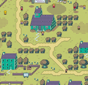Earthbound Happy Happy Village Map
